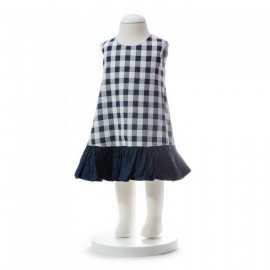 image of BABY GIRLS SUMMER STYLE CHECKERED DRESS