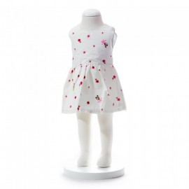 image of BABY GIRLS SUMMER STYLE RIBBON FLORAL DRESS