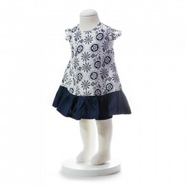image of BABY GIRLS SUMMER STYLE AZTEC PATTERN DRESS