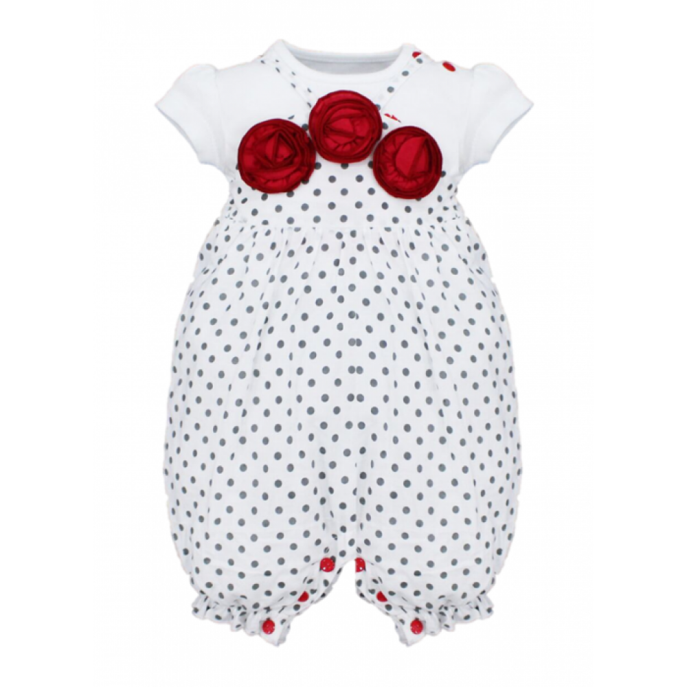 BABY GIRLS PETITE ROSE T-SHIRT & BIB PANTS