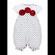 image of BABY GIRLS PETITE ROSE T-SHIRT & BIB PANTS