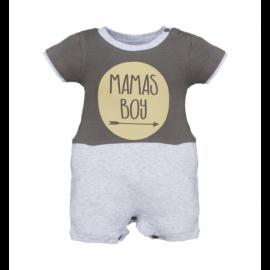 image of BABY BOYS MAMAS BOY HALF ROMPER