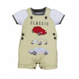 image of BABY BOYS CLASSIC CARS T-SHIRT & BIB PANTS