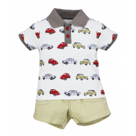 image of BABY BOYS CLASSIC CARS POLO & SHORTS