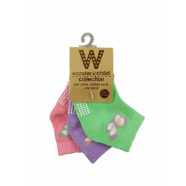 image of BABY GIRLS BUTTERFLY SOCKS (3 PAIRS)