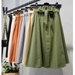 Korean Elasticated High Waist Skirt * Free size *