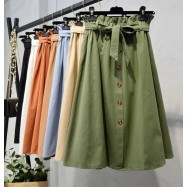 image of Korean Elasticated High Waist Skirt * Free size *