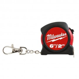 image of MILWAUKEE 6FT / 2M KEYCHAIN MEASURING TAPE (48-22-5506)