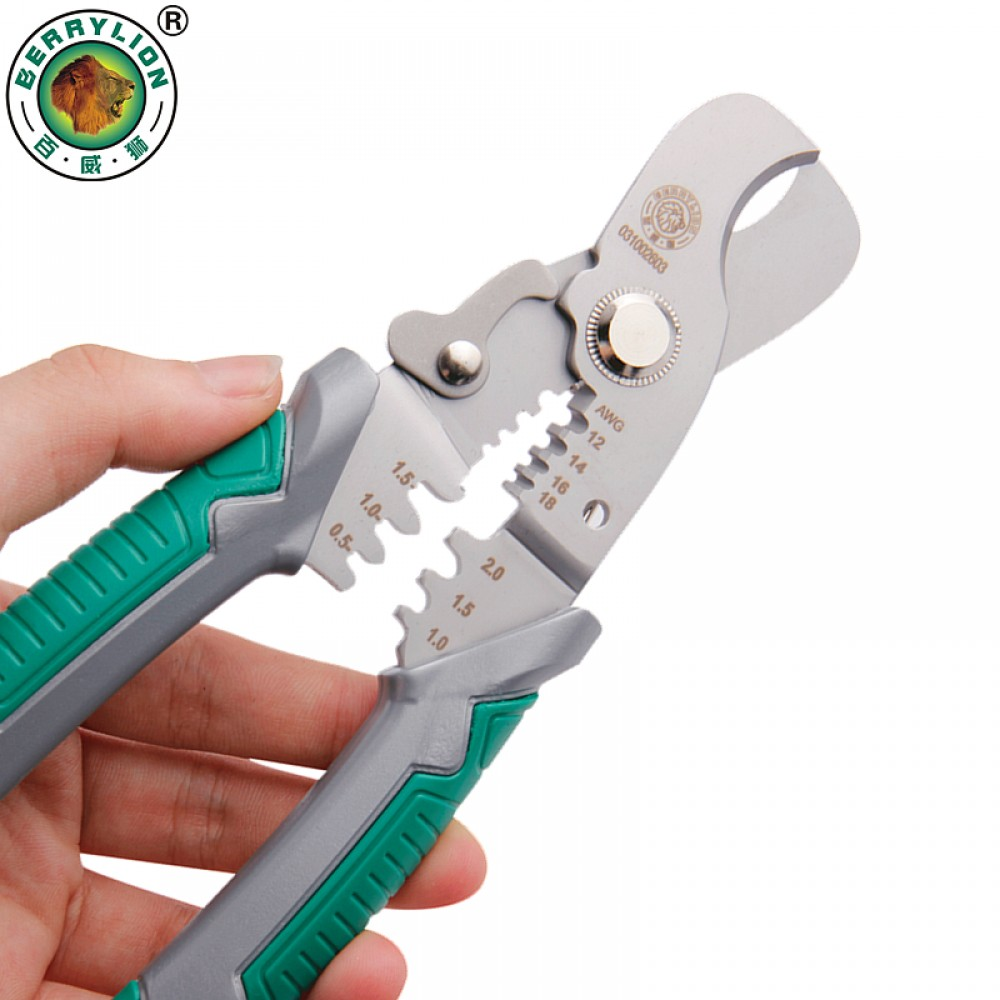 BERRYLION 3IN1 MULTIFUNCTIONAL WITE STRIPPER CABLE CUTTER