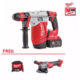 image of MILWAUKEE M18 FUEL CORDLESS 3IN1 ROTARY HAMMER DRILL (M18 CHPX-502C)