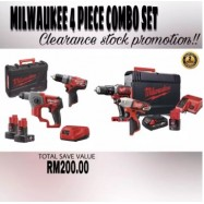 image of MILWAUKEE 4 PIECE COMBO SET (M12-M18 SERIES)