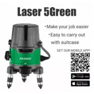 image of AKAIDO PROFESSIONAL LASER LEVELING 5 LINE (GREEN)