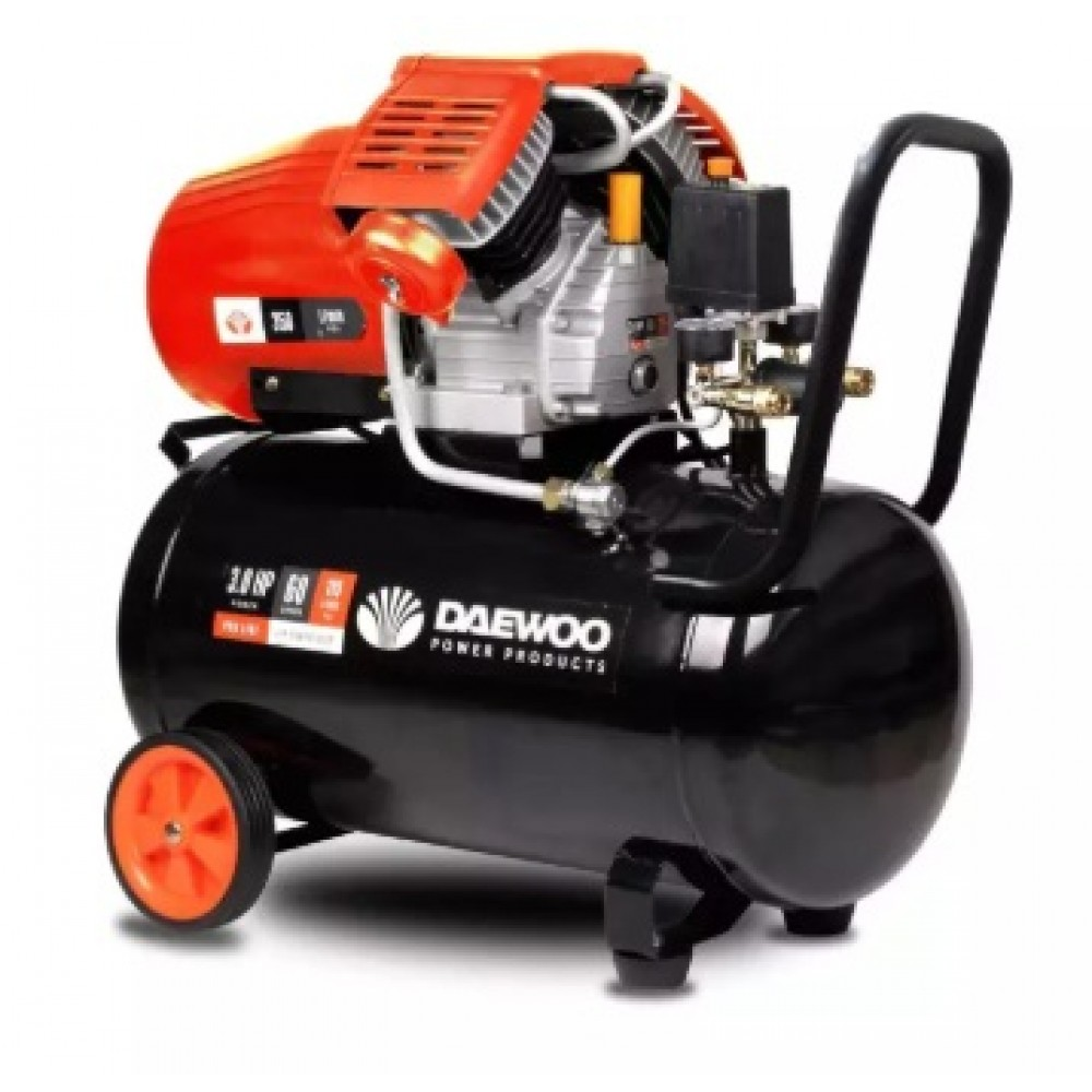 DAEWOO 3HP 60LIT AIR COMPRESSOR (DAC60VD)