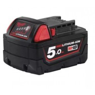 image of MILWAUKEE M18 5.0AH RED LITHIUM-ION BATTERY