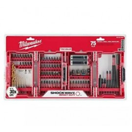 image of MILWAUKEE 75PCS SHOCKWAVE IMPACT DRILL & DRILL BIT SET (48-32-4030)