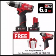 image of MILWAUKEE 12W FUEL PRECUSSION IMPACT DRILL - (M12 CPD-602 C AZN)