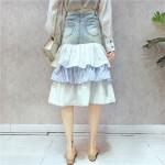 Layer Jeans Skirts HongKong Style