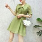 Chiffon Bow Short Sleeve Dress 蝴蝶结短袖连身裙