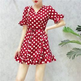 image of Summer Chiffon bobo Irregular Dresses