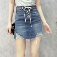 image of Korean lace worn Joker cowboy skirt summer Jeans