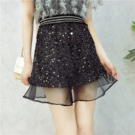 image of Korean Sequin mesh Bling Fishtail Skirts