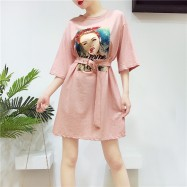 image of HongKong loose solid color Dresses-T