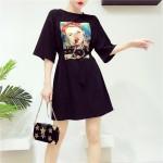 HongKong loose solid color Dresses-T