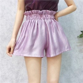 image of Korean ulzzang wild wood shorts casual High Waist pants