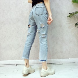 image of *HOT* Summer Jeans Behind hole pocket design