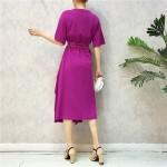 Transparent waistband irregular layer ruffle dress 透明腰带开叉不规则层荷叶边裙