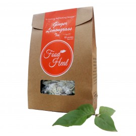image of Foodheal Dehydrated Ginger Lemongrass Tea (15 sachets)