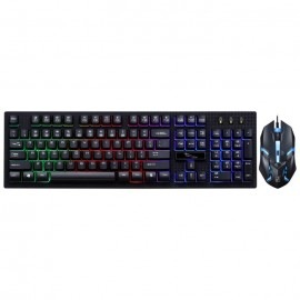 image of G20 RGB Gaming Keyboard (with Mouse) - Mechanical Feel Rainbow (2018 Promotion)