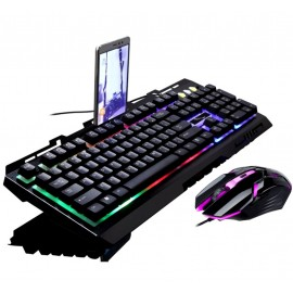 image of G700 RGB Gaming Keyboard with Mouse Combo Mechanical Feel Rainbow LED