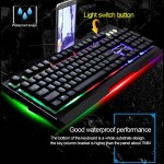 G700 RGB Gaming Keyboard Mechanical Feel Rainbow LED