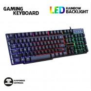 image of Gaming Keyboard Rainbow RGB Colour LED V8 E-Sports