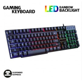 image of Gaming Keyboard Rainbow RGB Colour LED V8 E-Sports