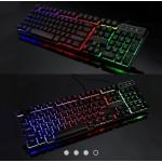 Gaming Keyboard Rainbow RGB Colour LED V8 E-Sports
