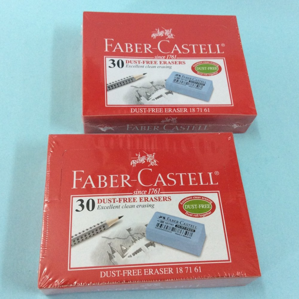 Faber Castell 187161 Dust Free Erasers (30pcs/Box)