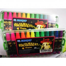 image of Buncho Fluorescent Crayon 12 colors