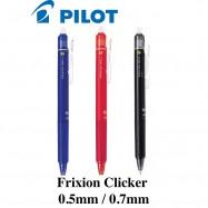 image of Pilot Frixion Clicker Erasable Roller Ball Gel Pen 0.5  07