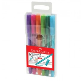 image of Faber Castell CX Colour Ball Pen (6Col/Set)