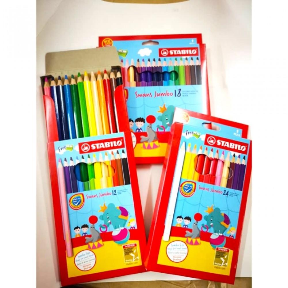 Stabilo Jumbo Colour Pencil 12S / 12L / 24L / 36L