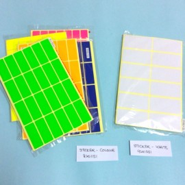image of Colour & White Square Sticker