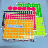 image of Colour & White Round Sticker 13mm / 16mm / 19mm / 25mm / 33mm