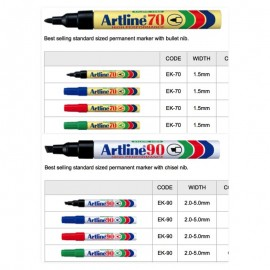 image of Artline 70 Permanent Marker / Artline 90 Permanent Marker
