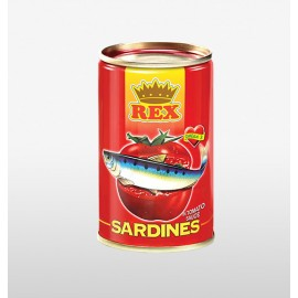 image of Rex Sardine in Tomato Sauce Canned Food / Tin Ikan Sardin Sos Tomato 425g HALAL