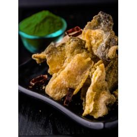 image of Green Curry Crispy Fish Skin 泰式青咖哩香脆鱼皮