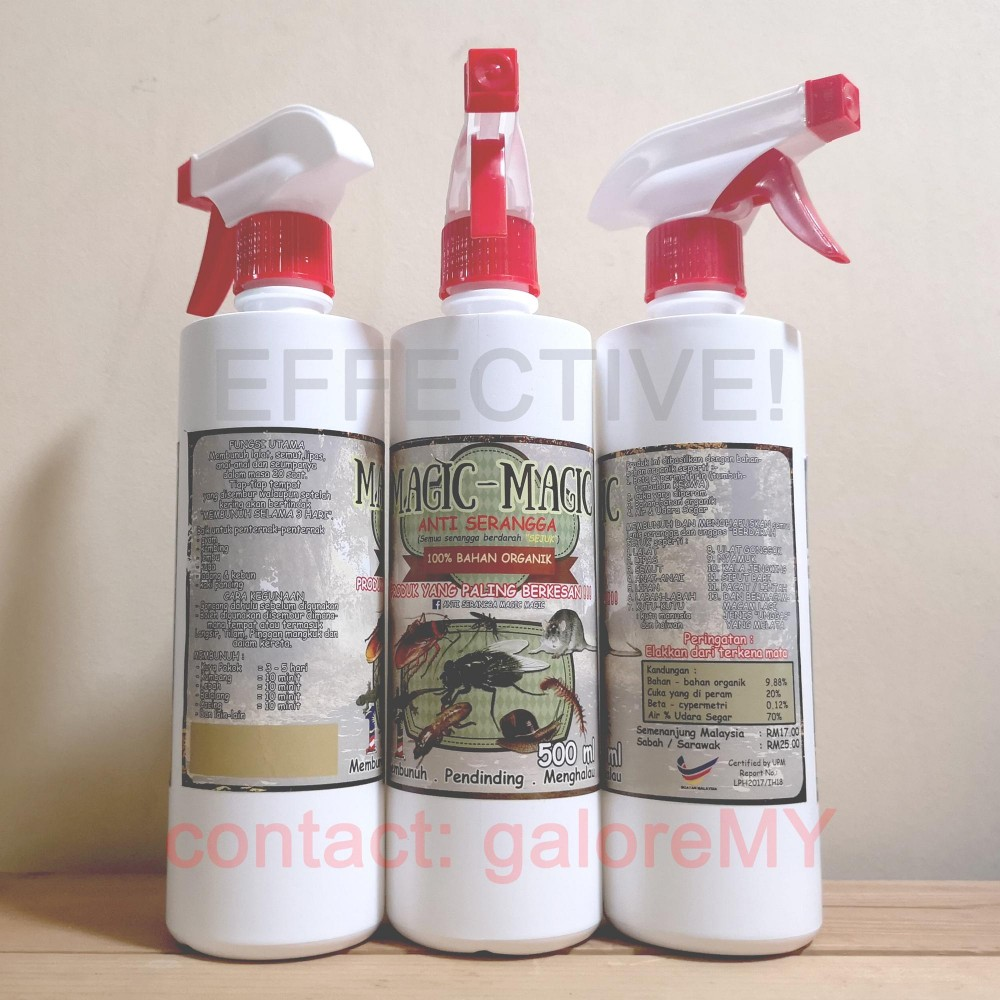 Magic Magic Anti Serangga Spray | Organic Insect Repellent | Safe Effective Pest Control | Bug Repellent