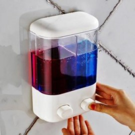 image of 1000ml Double Duo Soap Dispenser Sanitizer Bathroom Bath