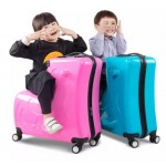 20-inch Children's suitcase Can ride to ride trolley Universal wheel Cartoon Travel bags